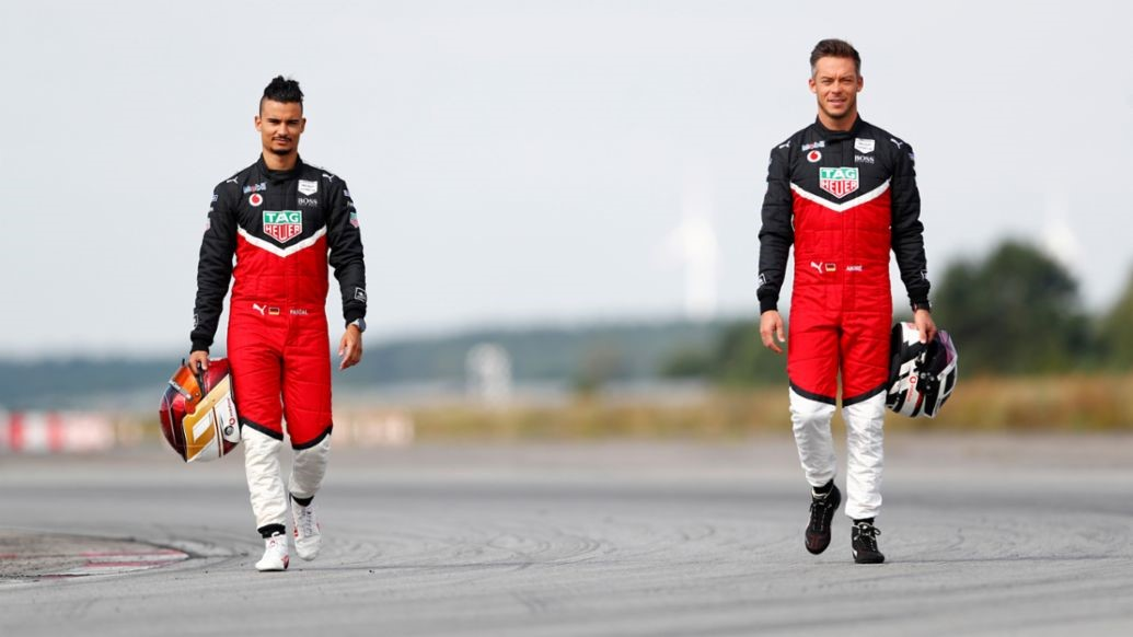 Pascal Wehrlein underway at his first test drive for TAG Heuer Porsche Formula E
